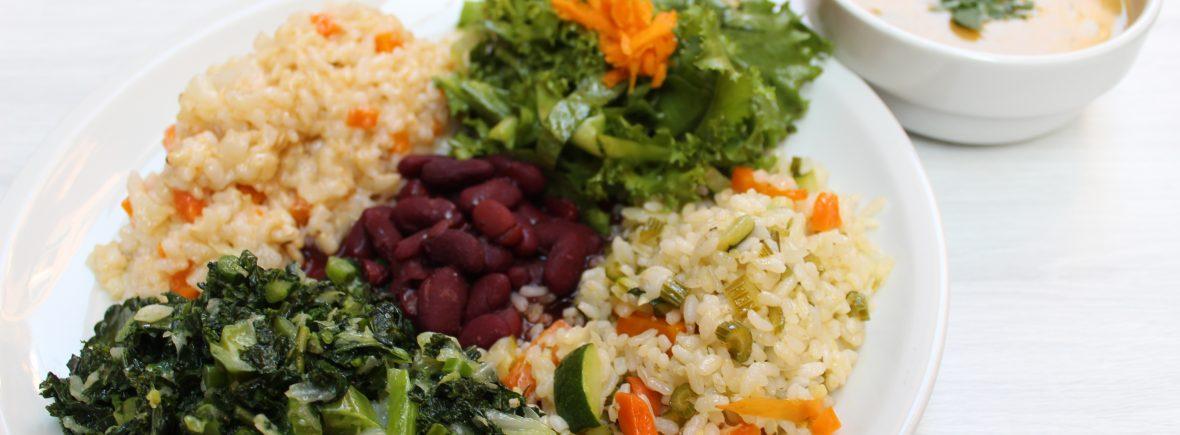 Piatto bio vegano